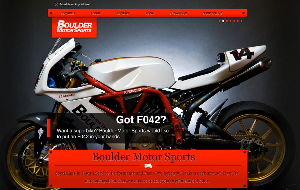 Boulder Motor Sports Website